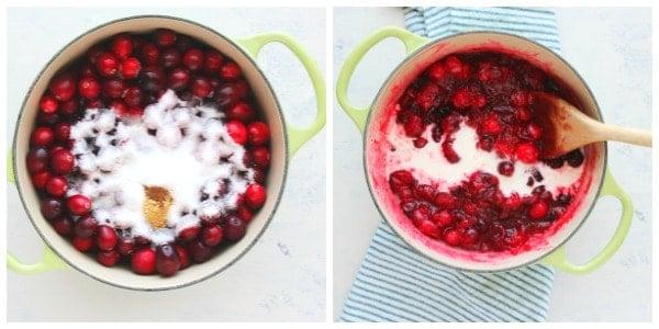 cranberry pie step 1 and 2 Cranberry Pie