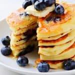 Panquecas de mirtilo A 150x150 Melhores Panquecas de Blueberry