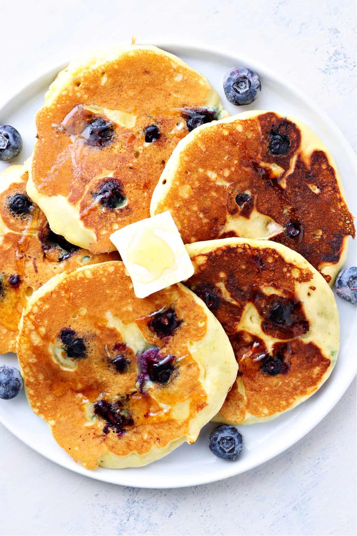 blueberry pancakes B Best Blueberry Pancakes