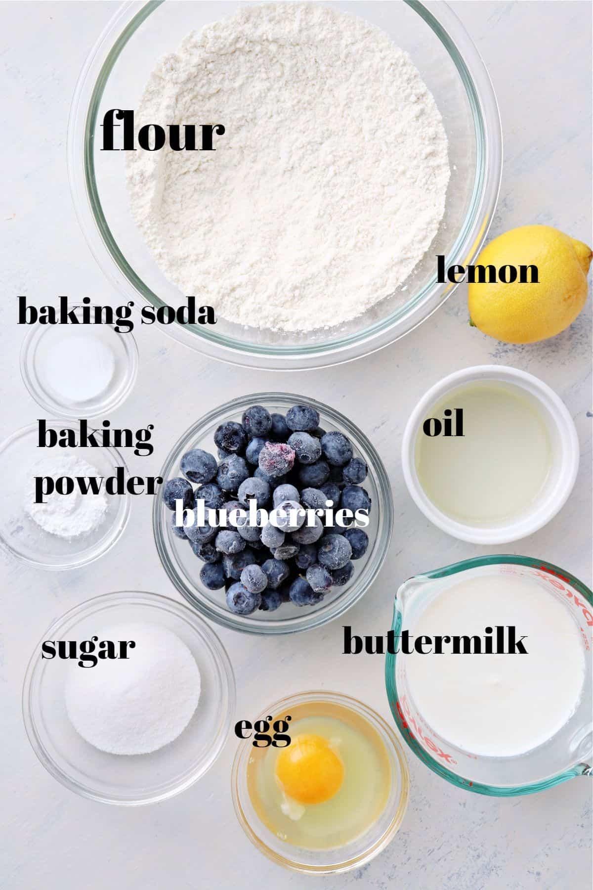 Ingredientes para panquecas de mirtilo 1 As melhores panquecas de mirtilo