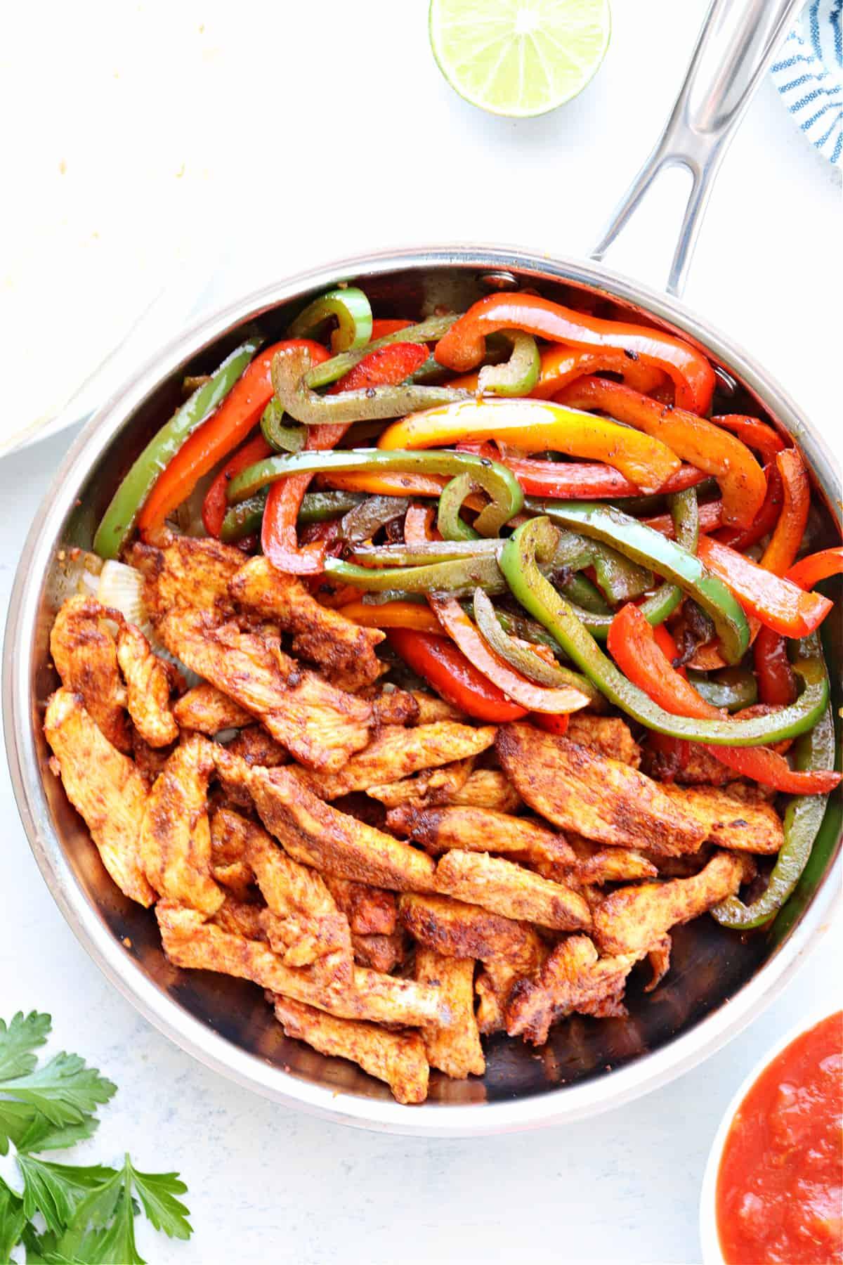 chicken fajitas 2 Easy Chicken Fajitas