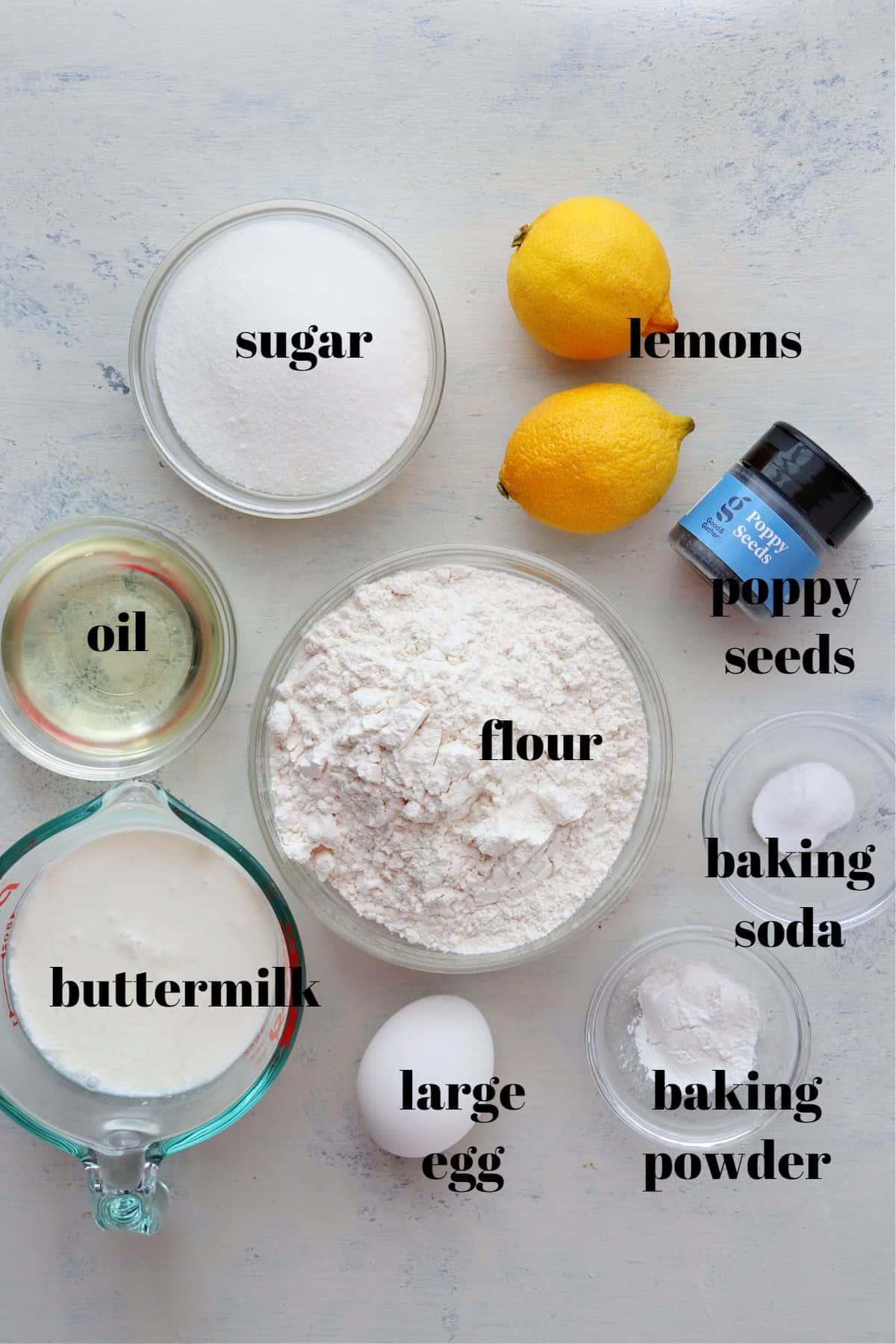 lemon poppy seed muffins ingredients 1 Lemon Poppy Seed Muffins