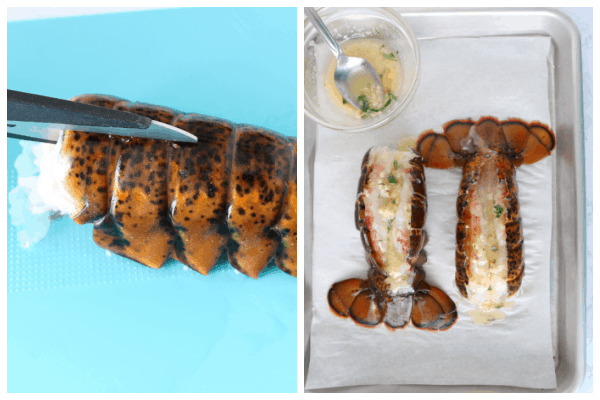 lobster tails step 1 and 2 Lobster Tails Recipe