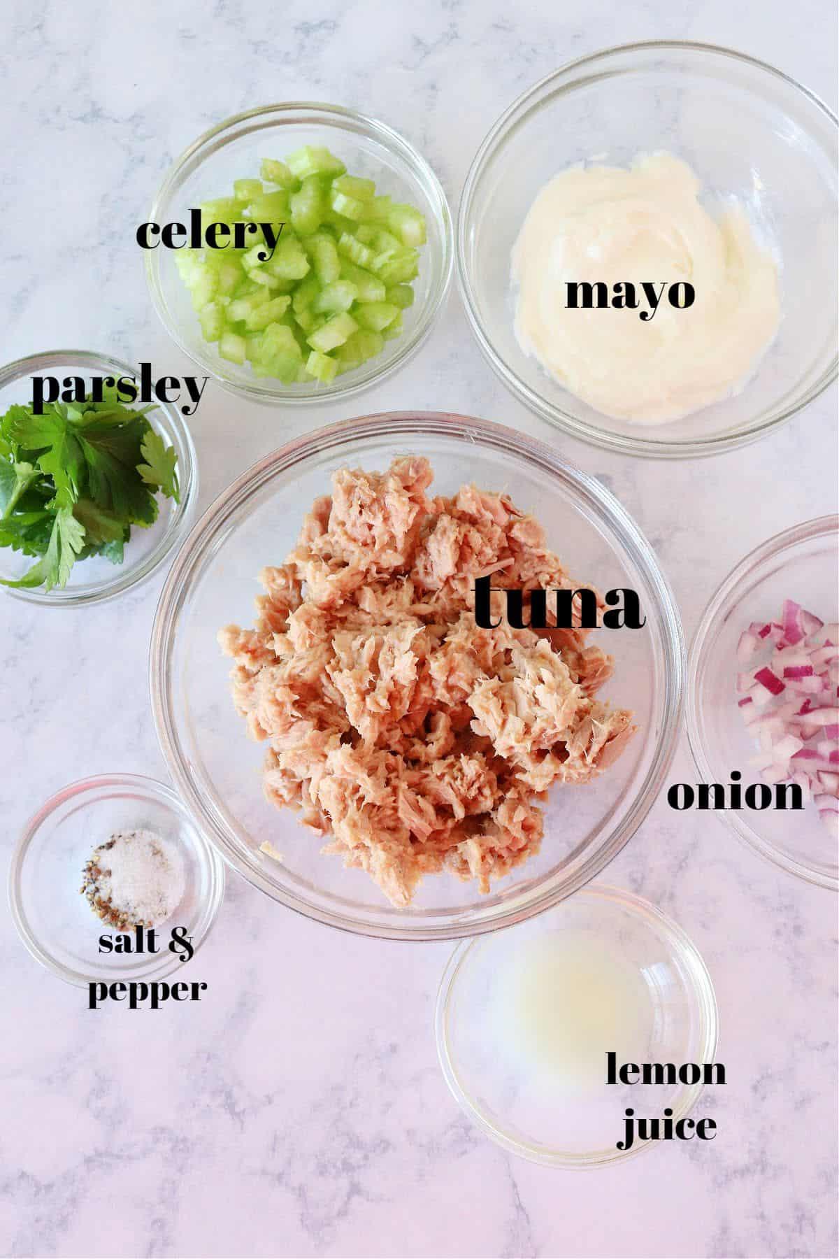 tuna salad ingredients 1 Best Tuna Salad Recipe