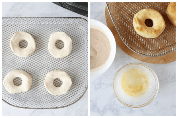 air fryer donuts step 3 and 4 Air Fryer Donuts