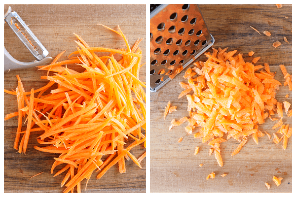 cutting carrots for salad  Carrot Salad