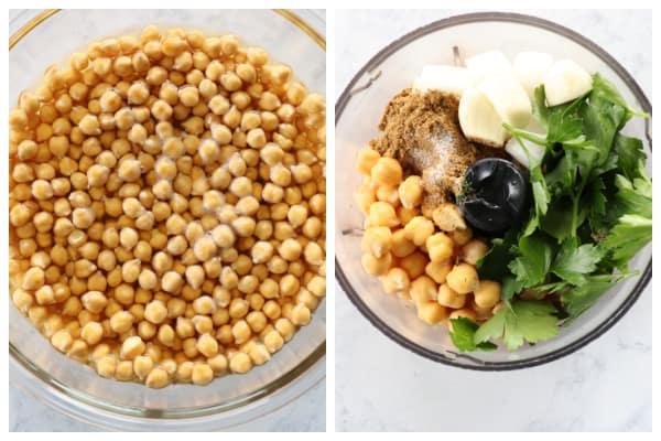 falafel step 1 and 2 Falafel Recipe