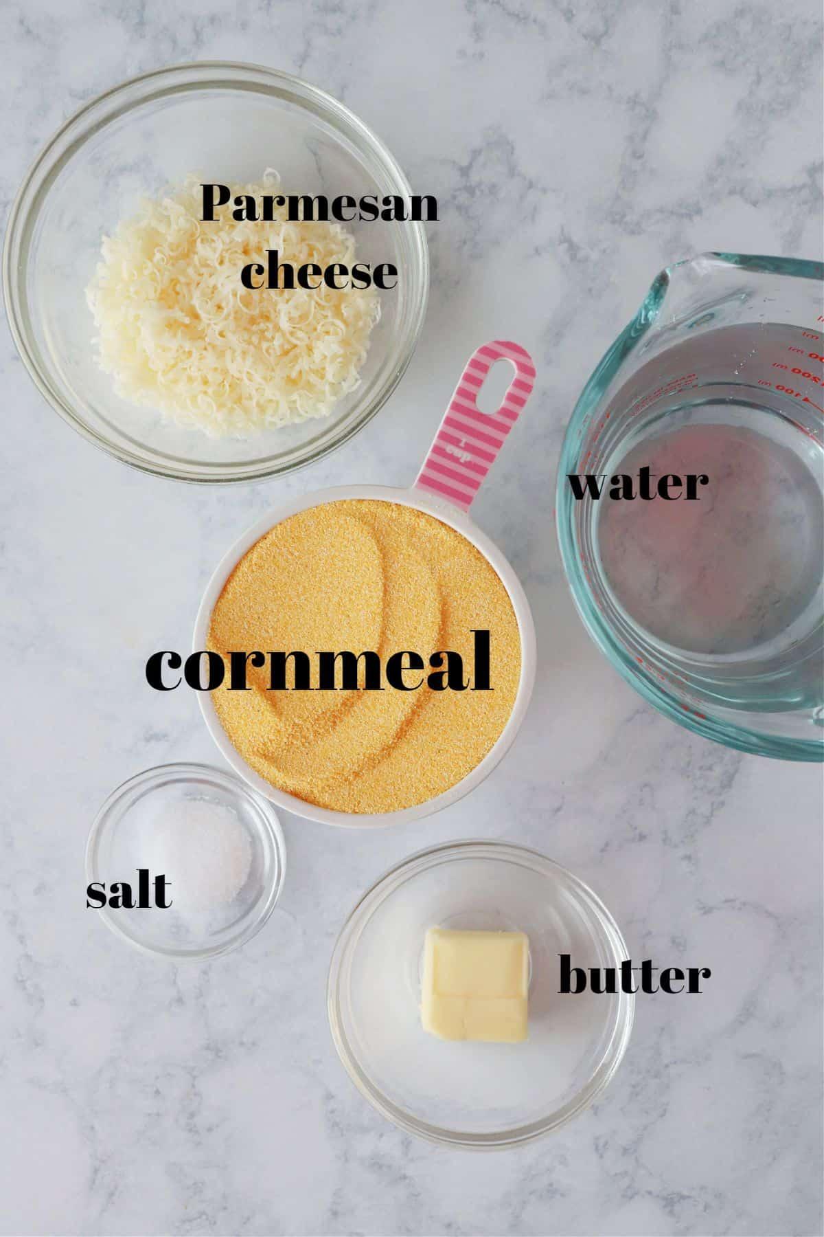 polenta ingredients 1 Creamy Polenta Recipe