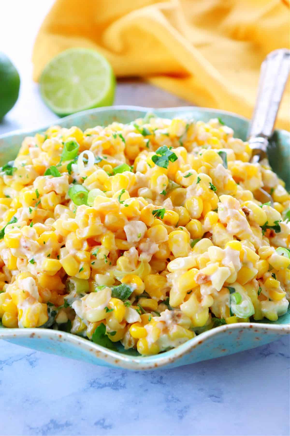 Mexican corn salad 1 Mexican Street Corn Salad (Esquites)
