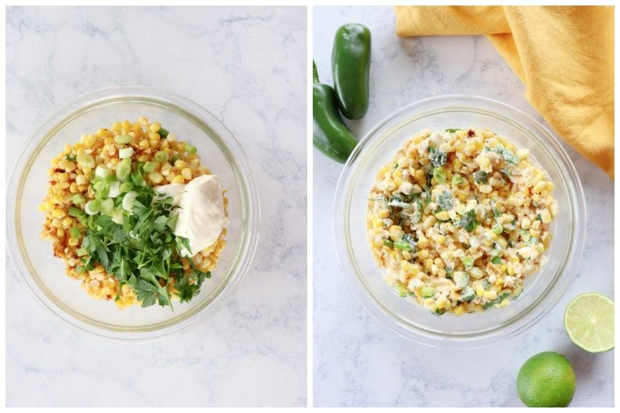 Mexican corn salad step 3 Mexican Street Corn Salad (Esquites)