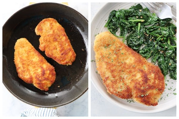 breaded chicken step 5 and 6 a Breaded Chicken Cutlets