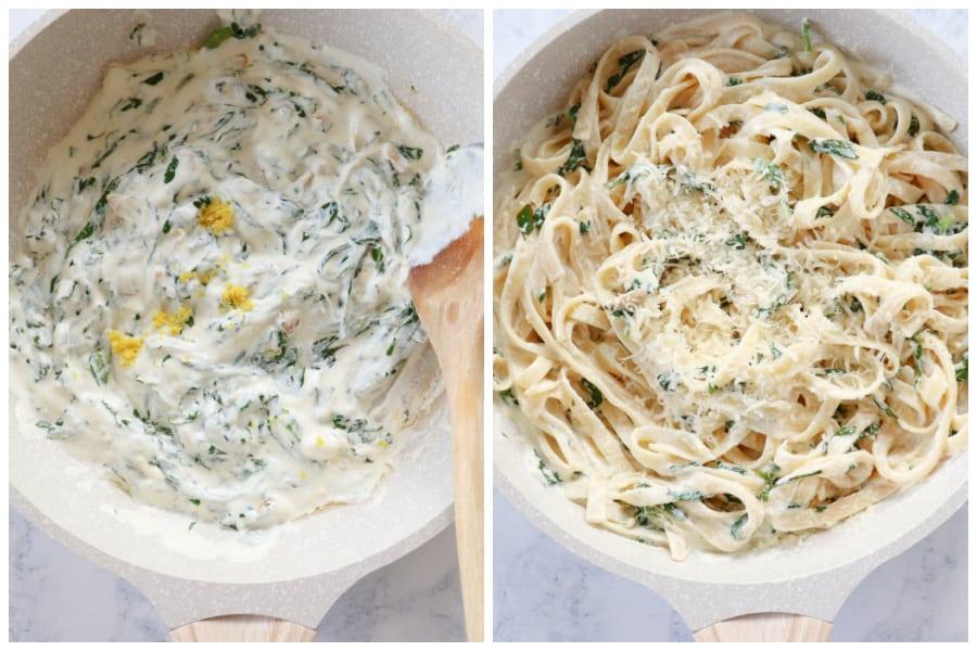 lemon ricotta pasta step 5 and 6 Best Lemon Ricotta Pasta