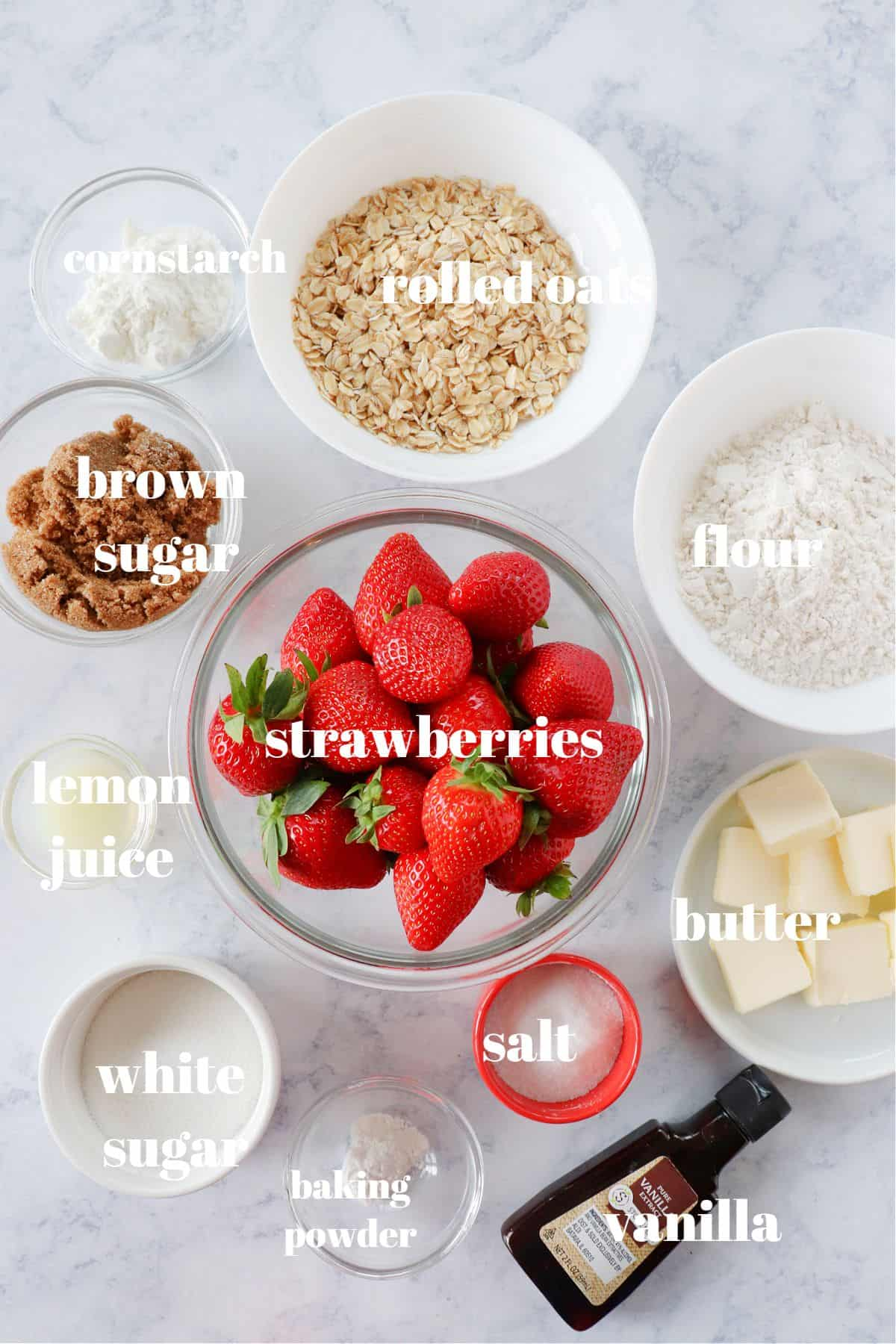 strawberry crumble ingredients 1 Strawberry Crumble