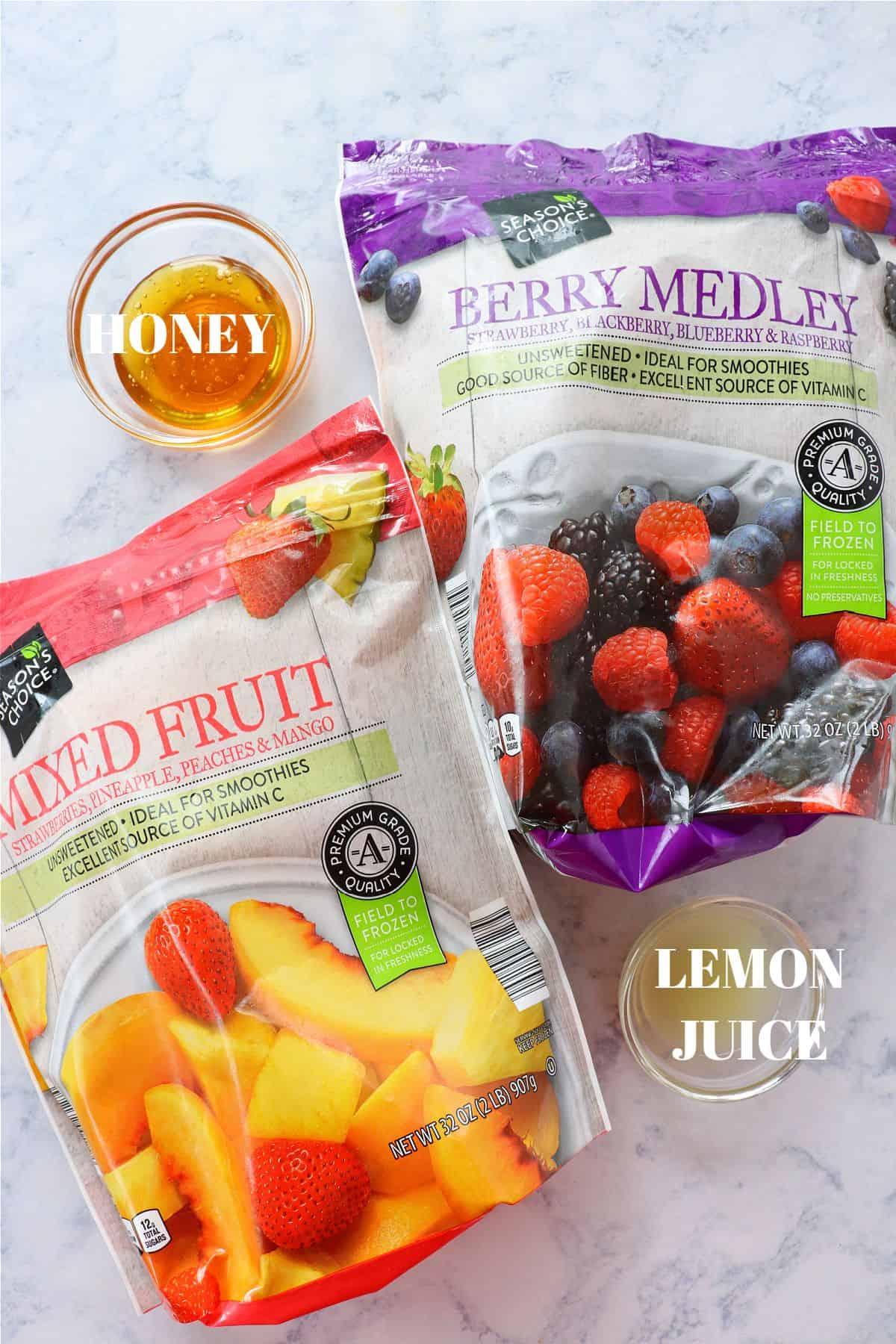 frozen fruit salad ingredients 1 Frozen Fruit Salad
