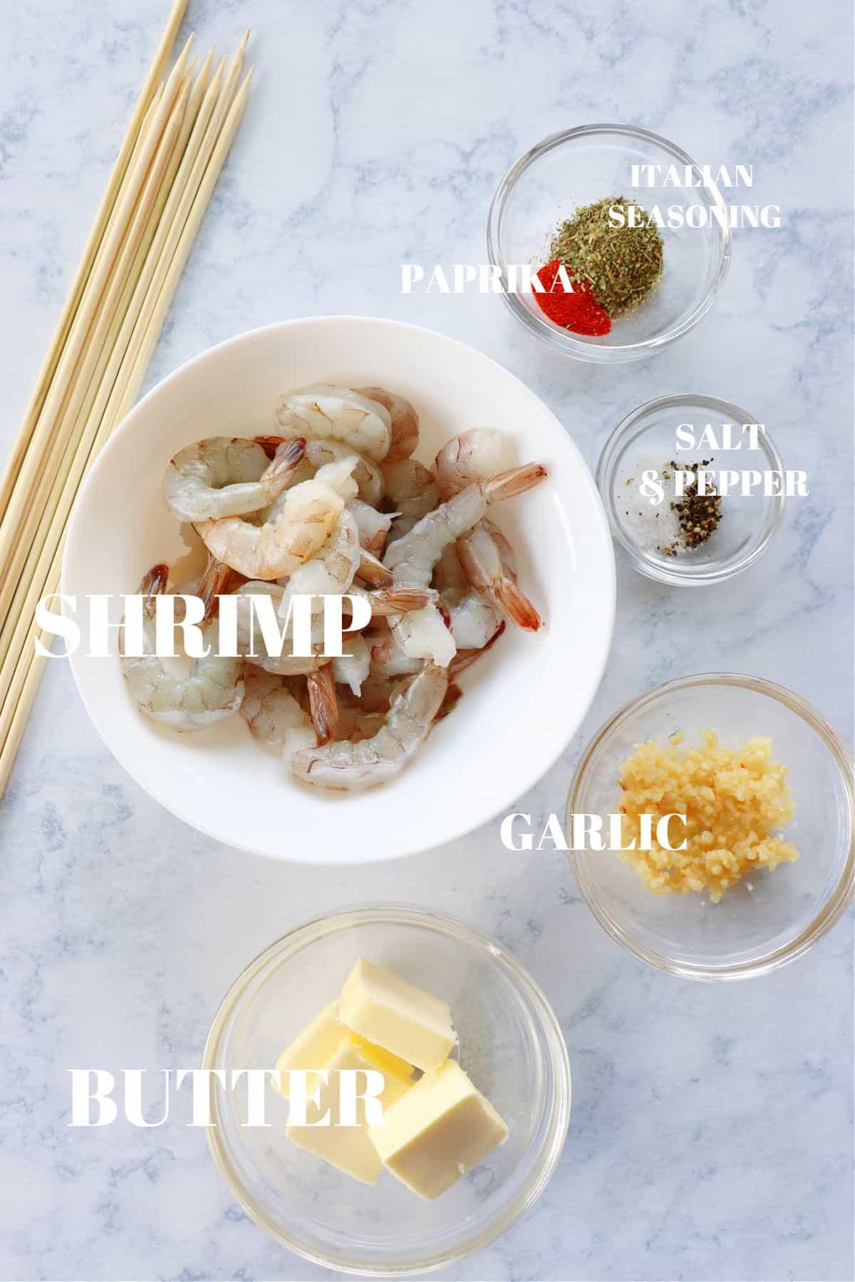 grilled shrimp ingredients 1 Easy Grilled Shrimp