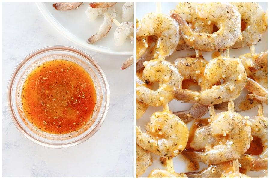 grilled shrimp step 1 and 2 Easy Grilled Shrimp