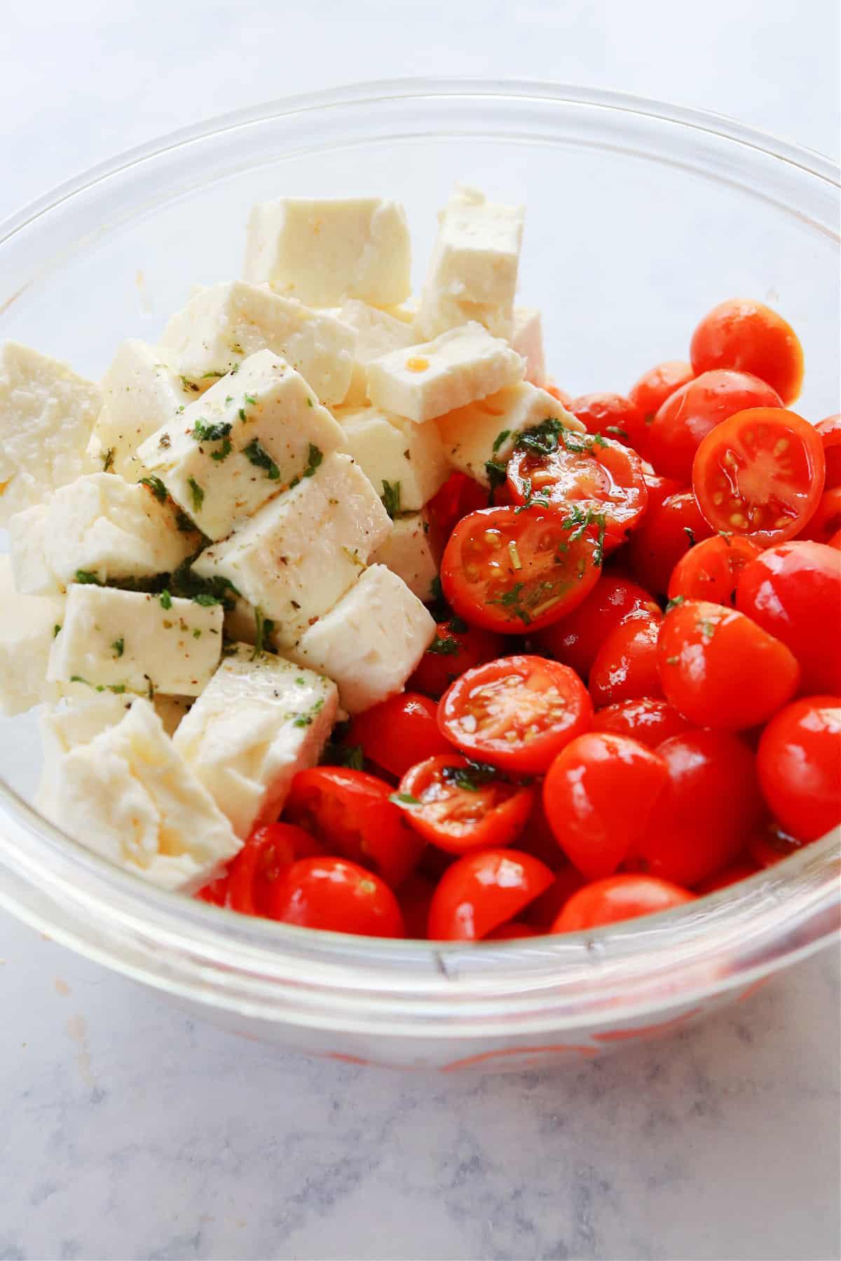 how to make tomato feta salad Tomato Feta Salad