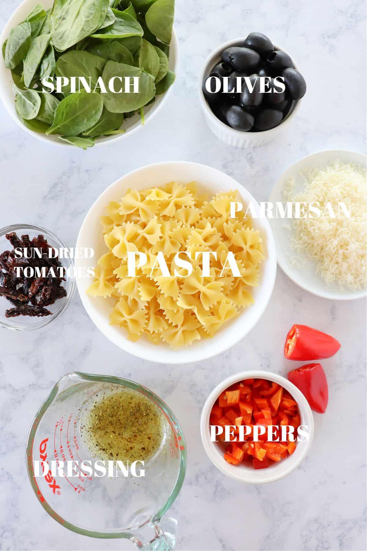 tuscan pasta salad ingredients 1 Tuscan Pasta Salad