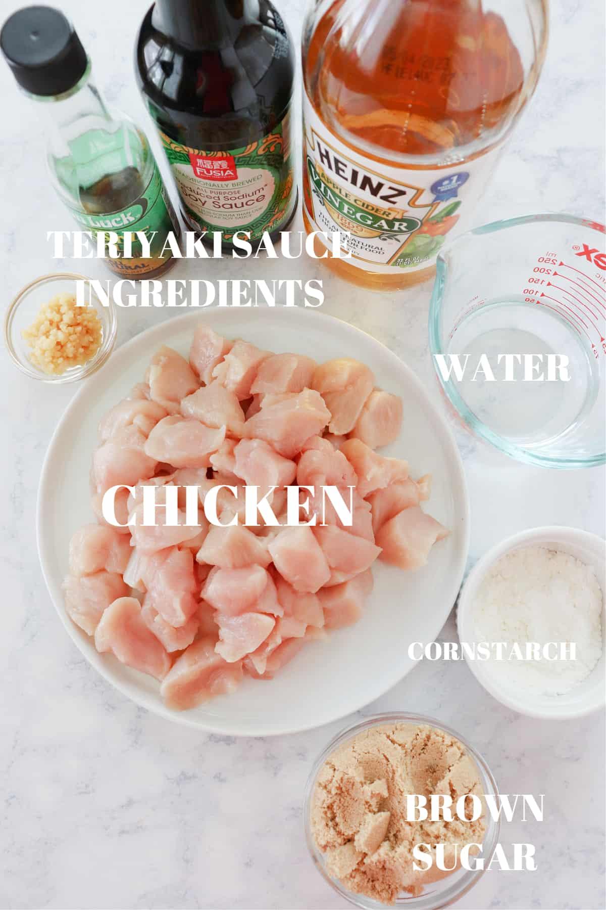 Instant Pot teriyaki chicken ingredients 1 Best Instant Pot Teriyaki Chicken