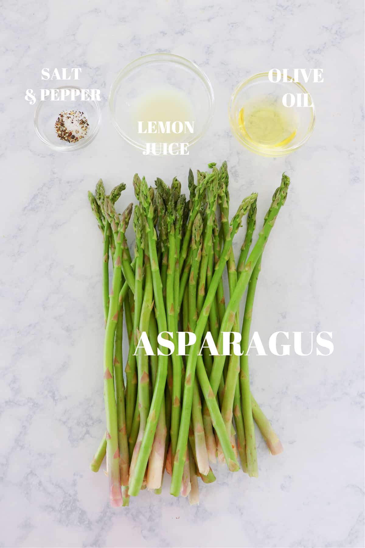 air fryer asparagus ingredients 1 Air Fryer Asparagus