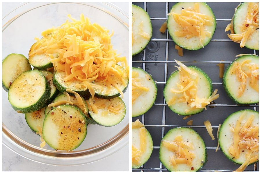 baked zucchini step 3 and 4 Cheddar Baked Zucchini