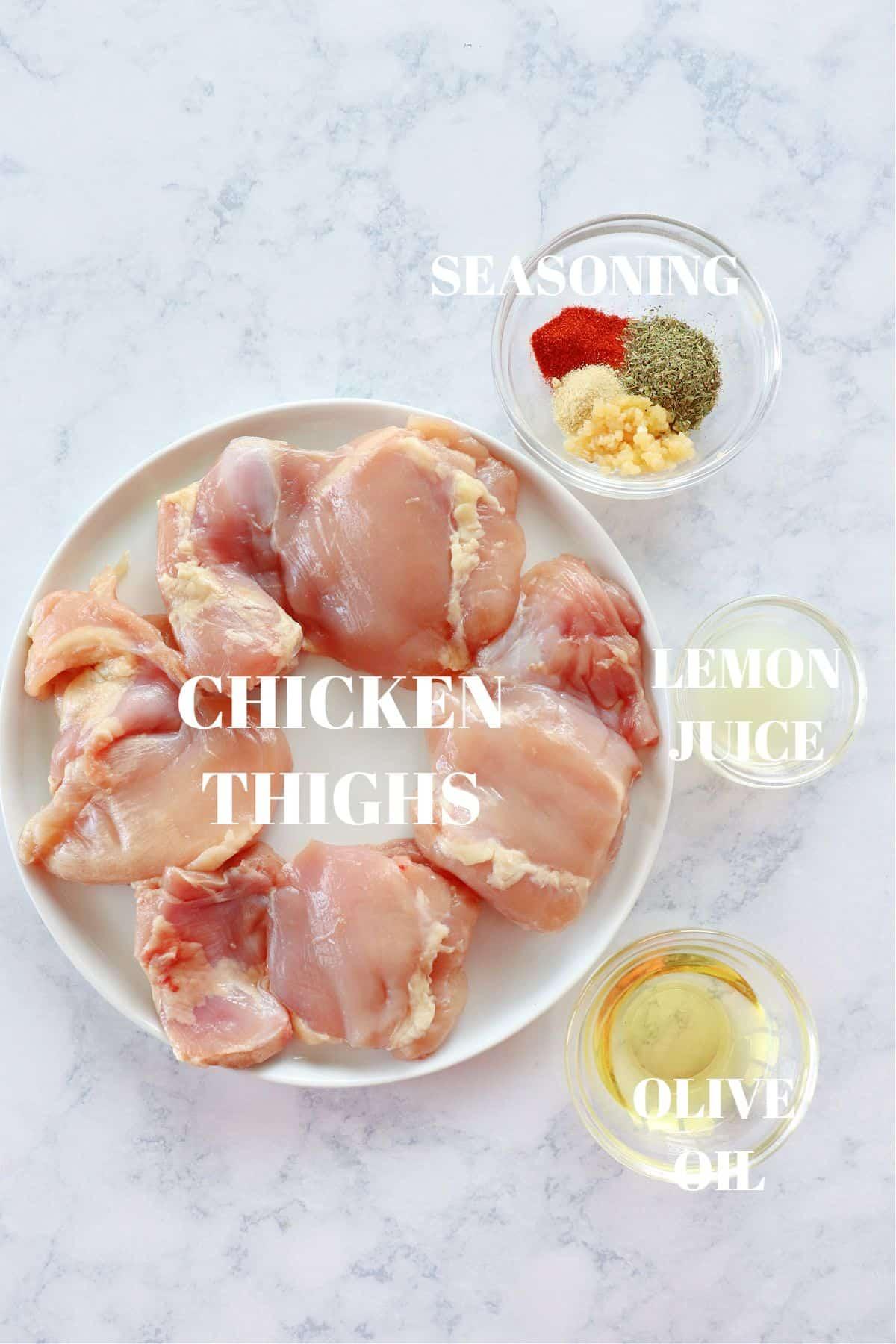 grilled chicken thighs ingredients 1 Grilled Chicken Thighs