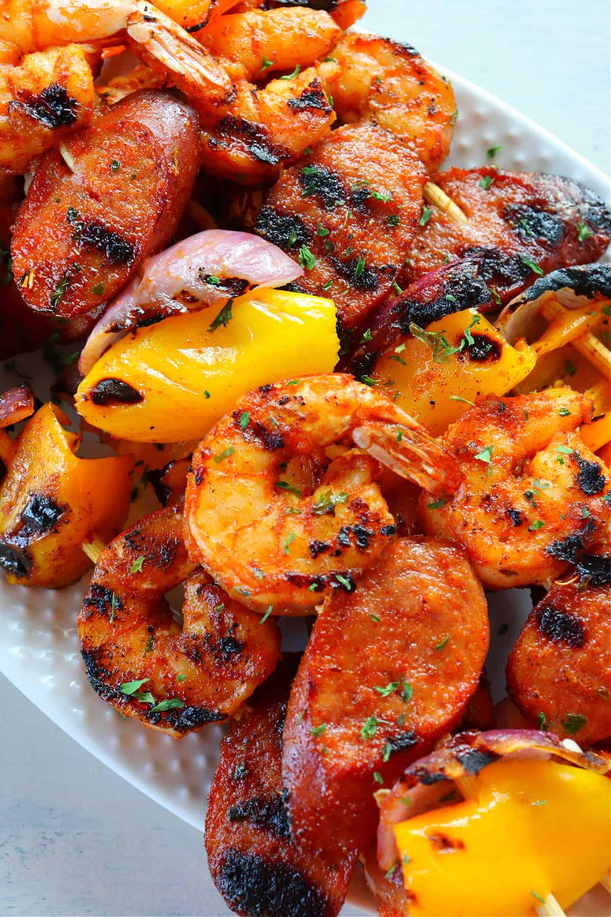 shrimp and sausage skewers 1 Shrimp and Sausage Skewers (Keto Friendly)