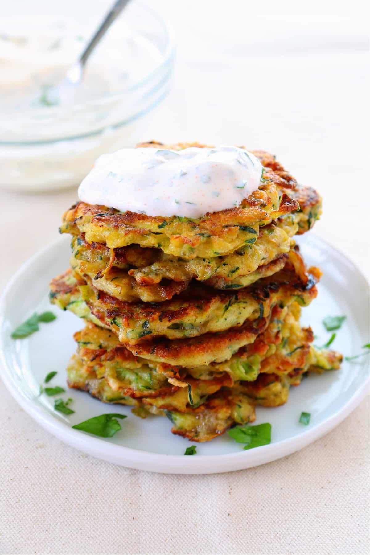 zucchini fritters 1 Zucchini Fritters Recipe
