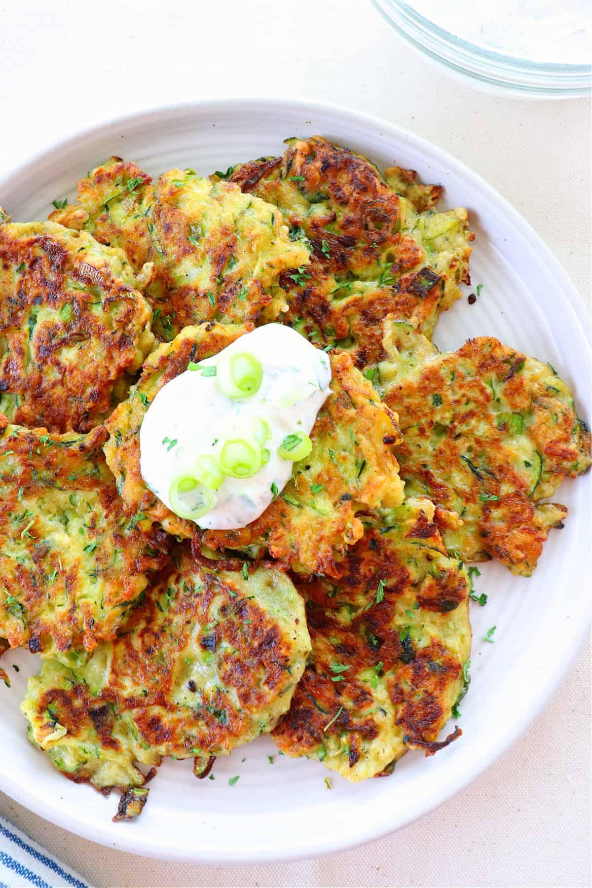 zucchini fritters 2 Zucchini Fritters Recipe
