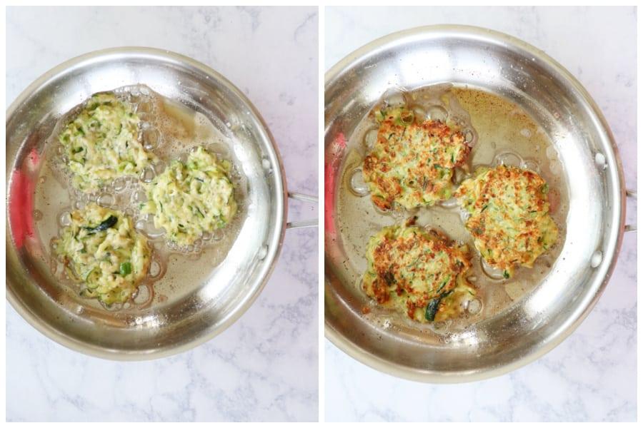zucchini fritters step 3 and 4 Zucchini Fritters Recipe