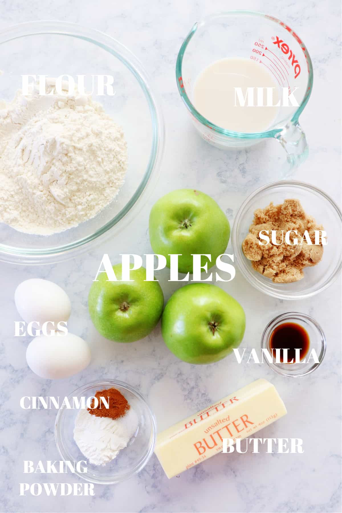 apple fritters ingredients 1 Easy Apple Fritters