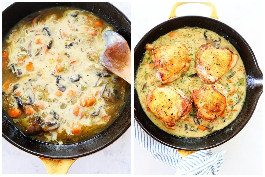 chicken fricassee step 7 and 8 Easy Chicken Fricassee