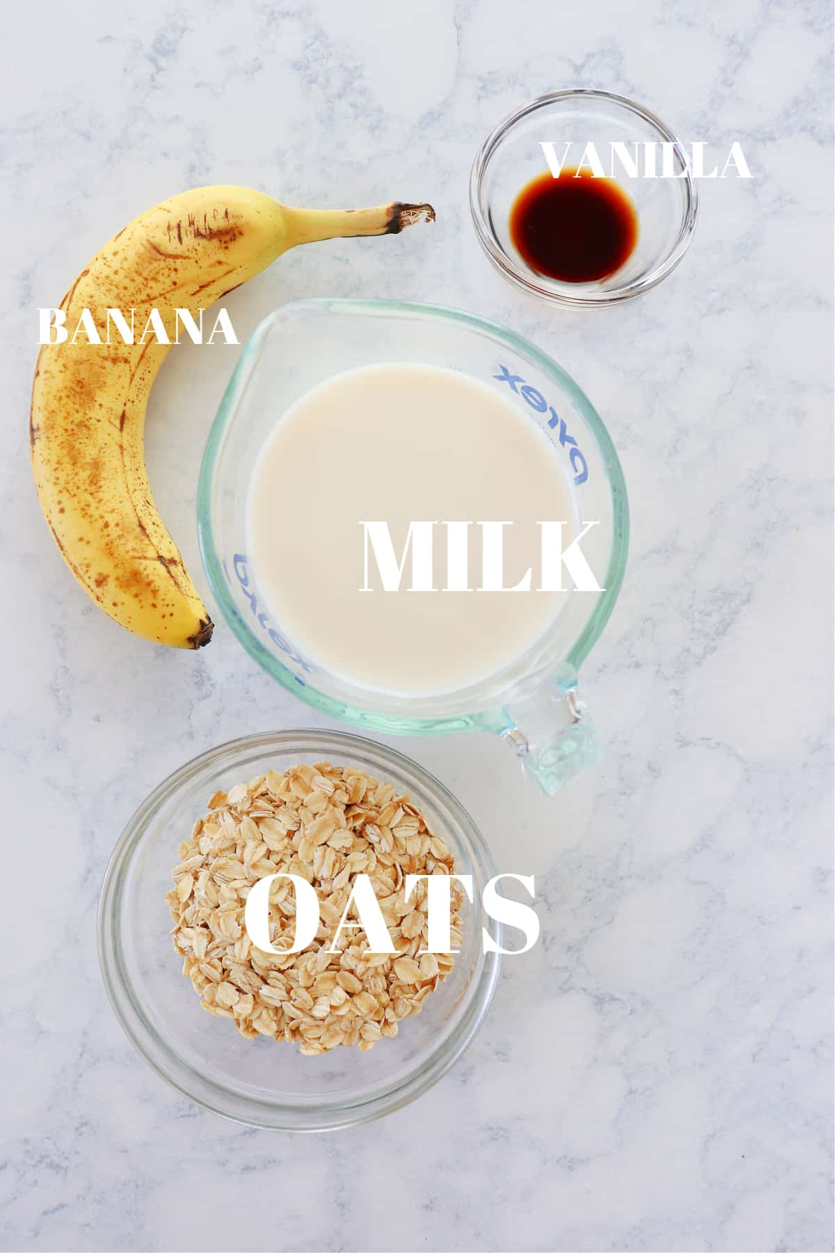 oatmeal smoothie ingredients 1 Best Oatmeal Smoothie