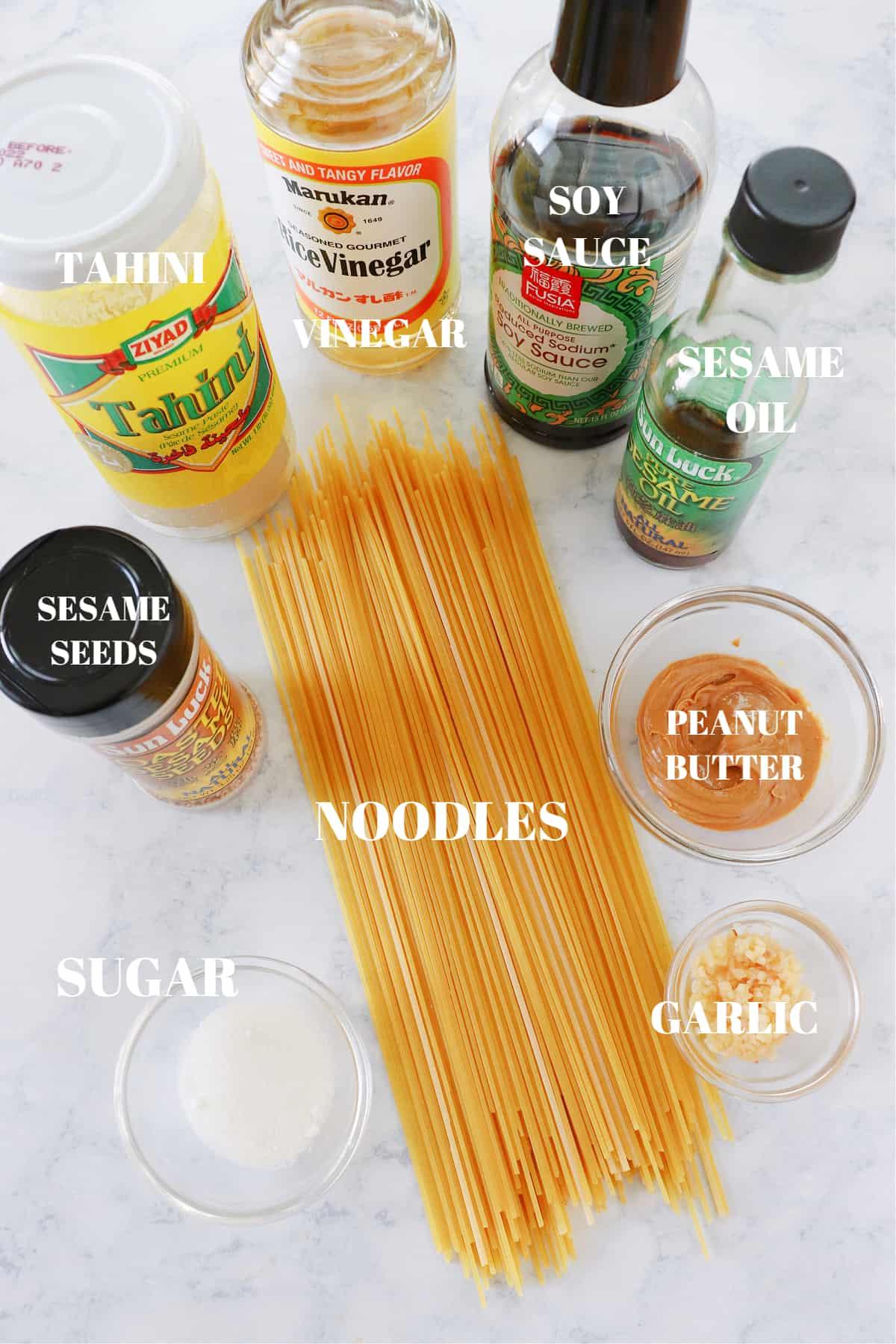 sesame noodles ingredients 1 Sesame Noodles