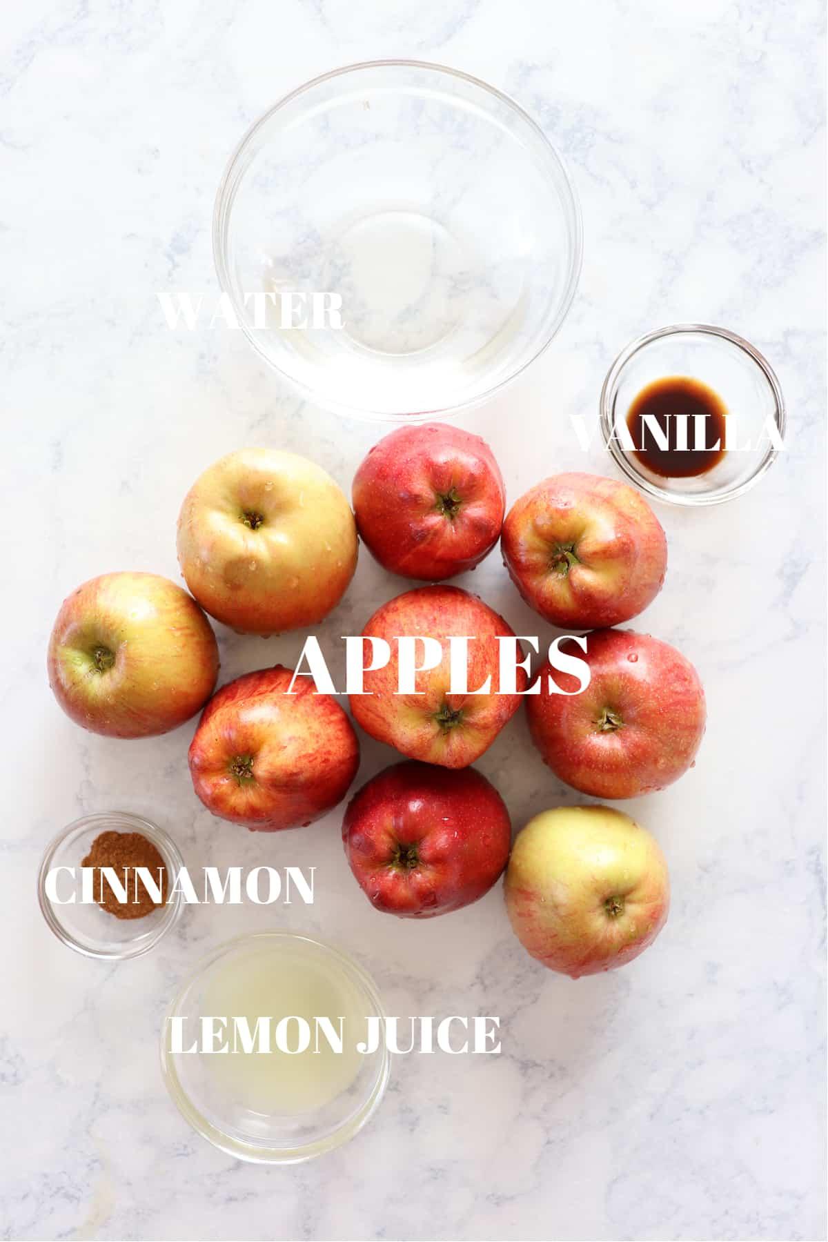 Instant Pot applesauce ingredients 1 Instant Pot Applesauce