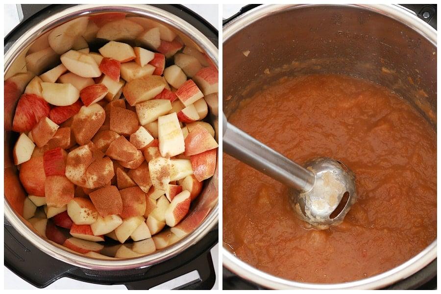 Instant Pot applesauce step 1 and 2 Instant Pot Applesauce
