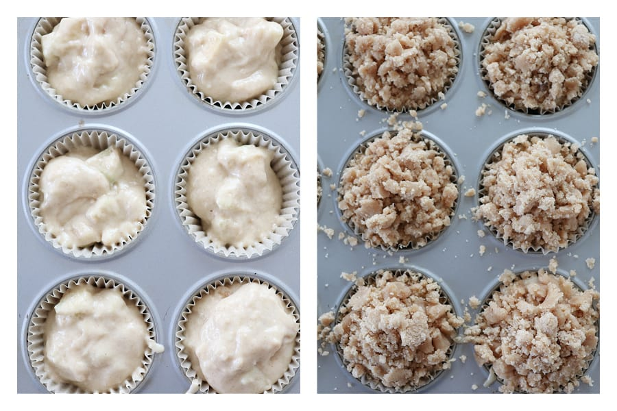 apple crumb muffins step 7 and 8 Apple Crumb Muffins
