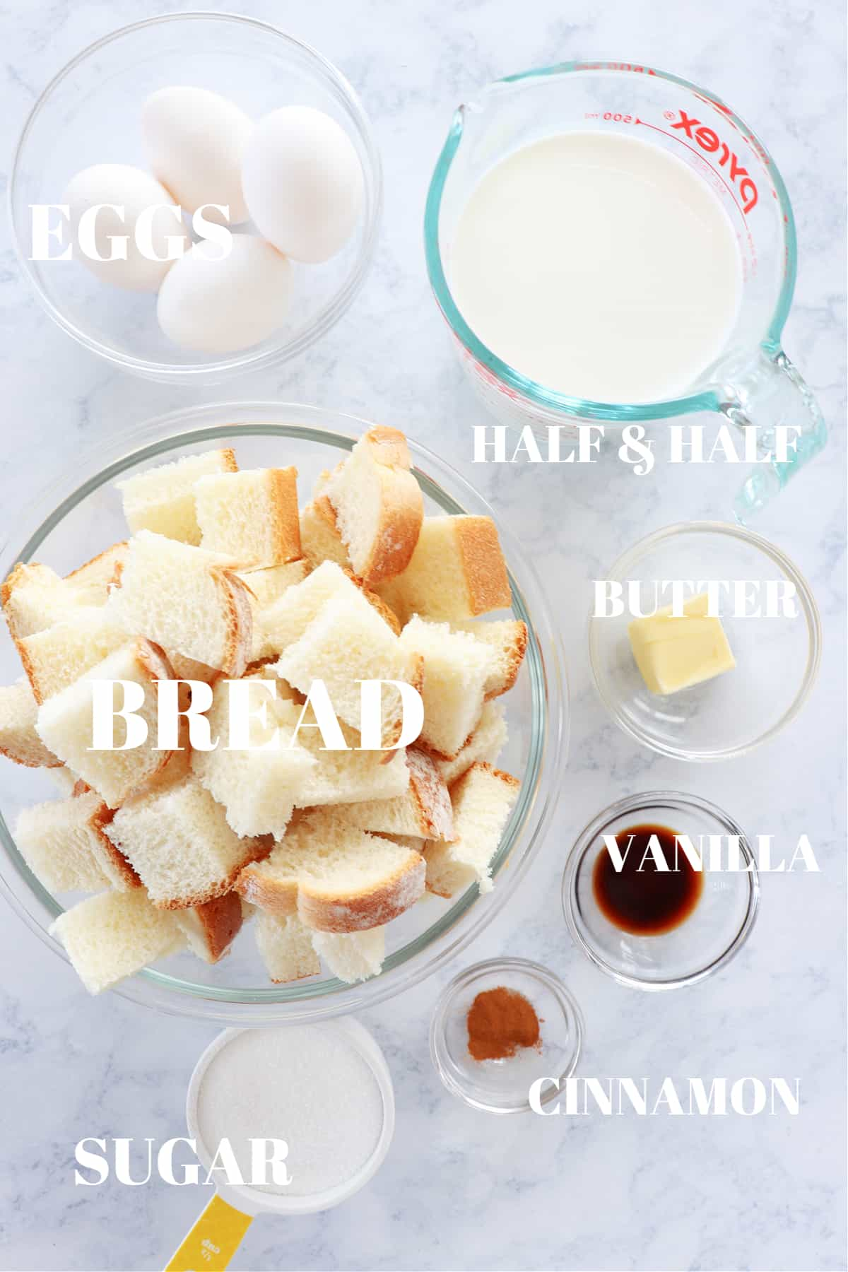 bread pudding ingredients 1 Bread Pudding Recipe