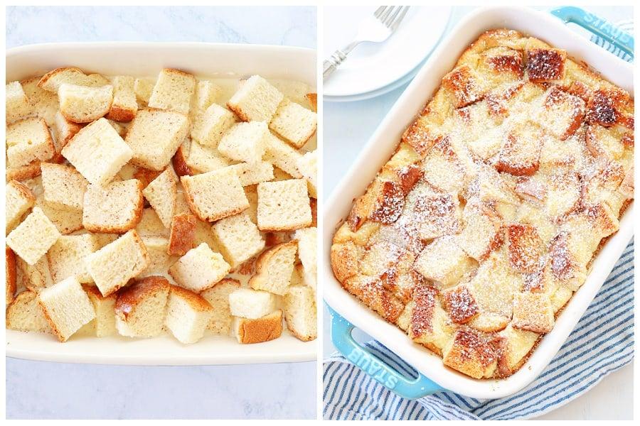 bread pudding step 3 and 4 Bread Pudding Recipe