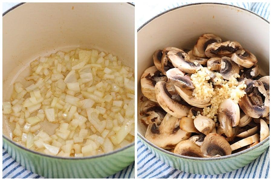 mushroom sauce step 1 and 2 Mushroom Sauce (fail proof recipe)