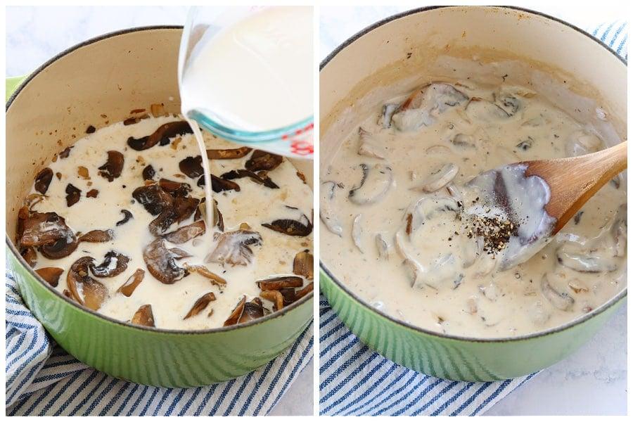 mushroom sauce step 3 and 4 Mushroom Sauce (fail proof recipe)