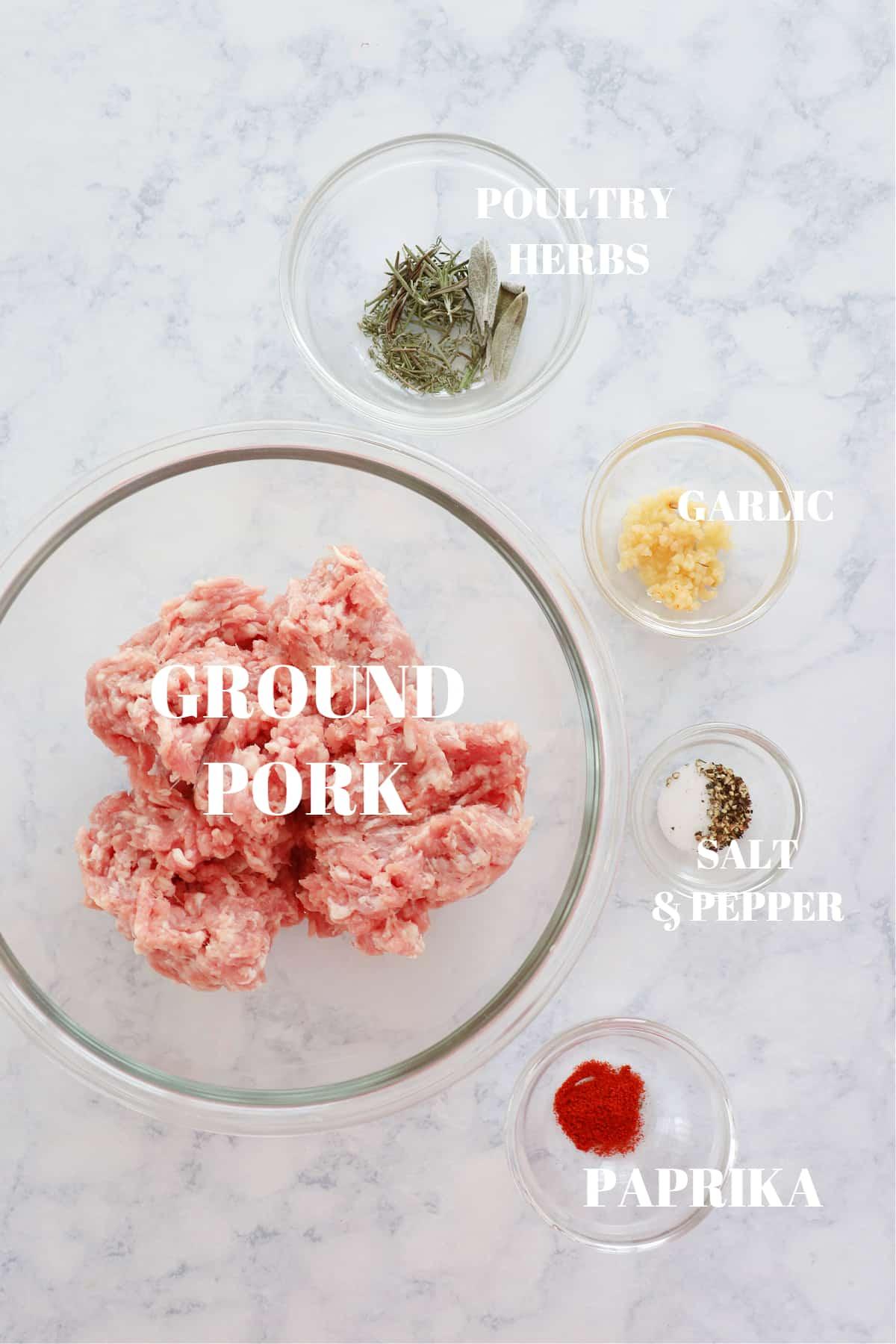 breakfast sausage ingredients 1 Homemade Breakfast Sausage Recipe