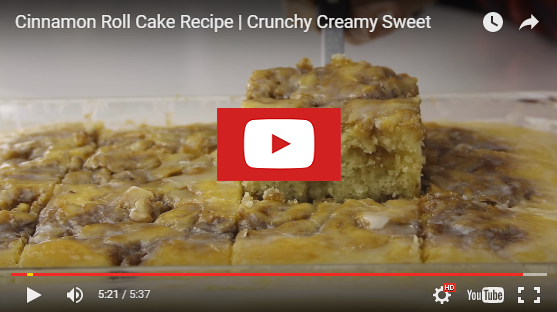 youtubecinnamoncake Cinnamon Roll Cake (from scratch) Recipe