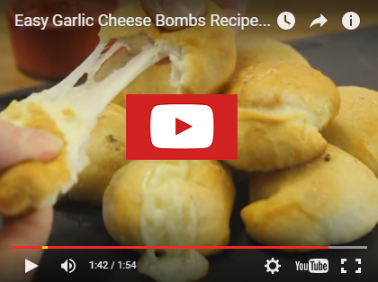 youtubeeasygarlicbombs Easy Garlic Cheese Bombs Recipe