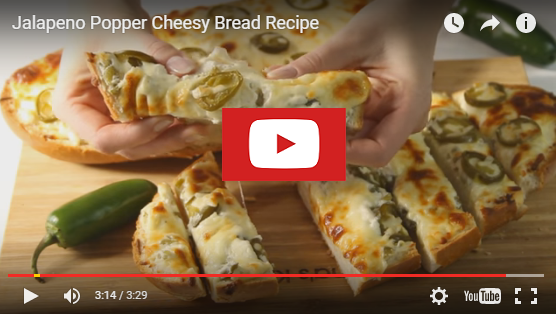 youtubejalapenobread Jalapeno Popper Cheesy Garlic Bread Recipe Card