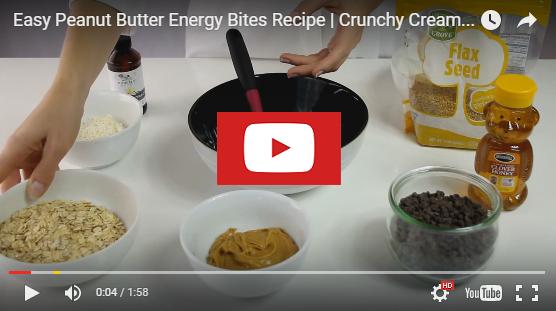 youtubepeanutenergybites Peanut Butter Energy Bites